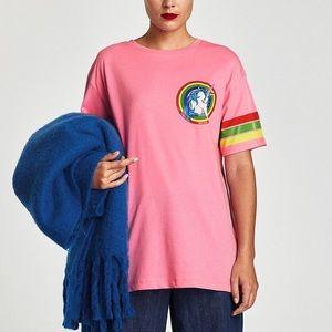Zara Unicorn Graphic Tee